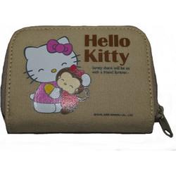 739ab81a75 Πορτοφόλι υφασμάτινο μπέζ Hello Kitty Hug Friends original