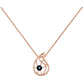 Κρεμαστό σταγόνα με ματάκι από ασήμι 925 με κρύσταλλα Swarovski - ASKR709R  - Ροζ χρυσό fe78bd56fa0