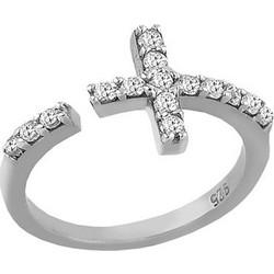 Ασημένιο Δαχτυλίδι Με Σταυρό Και Με Πέτρες Ζιργκόν c3772335631