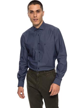 The Bostonians ανδρικό πουκάμισο σκουρόχρωμο με μικρό γιακά - ANP1257 - Μπλε  Σκούρο 18a68fe66f5