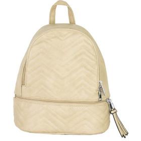 8cd986f55d Γυναικείο μπεζ μονόχρωμο Backpack καπιτονέ δερματίνη A188L