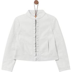 aee53dba974 OVS παιδικό faux δερμάτινο jacket με λεπτομέρειες από βολάν - 000401096 -  Λευκό
