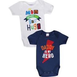 9d7e6a3b91b Minerva Φορμάκι Baby Κμ Αγόρι Mom,Daddy - Διπλό Πακέτο Πολύχρωμο