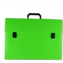 b89147e5fa9 Τσάντα σχεδίου πλαστική με χερούλι και κουμπί 27x38x4cm πράσινη