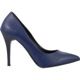 87e94f94ba2 Γόβες μπλε δερματίνη μυτερές 381719bu. Tsoukalas Shoes