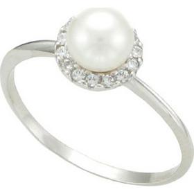 Δαχτυλίδι με μαργαριτάρι και ζιρκόν σε λευκό χρυσό 14 καρατίων. KS10848WS 44beb71360f
