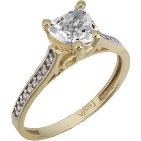 Μονόπετρο swarovski καρδιά χρυσό Κ14 με ορυκτές πέτρες 025744 025744 Χρυσός  14 Καράτια 460ed0e2228
