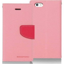 Apple iPhone 4/4S - Θήκη Book Goospery Fancy Diary Ρόζ - Φούξια (Mercury)