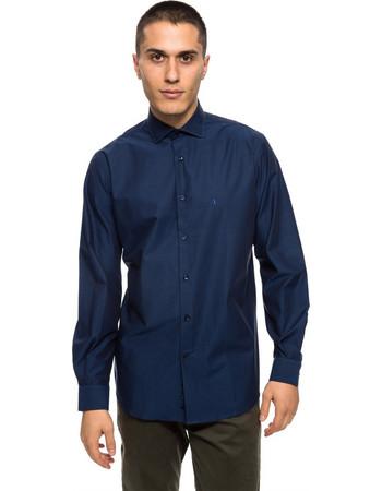 The Bostonians ανδρικό πουκάμισο σκουρόχρωμο με μικρό γιακά - ANP1257 - Μπλε  Marine 8b3c5c9336e