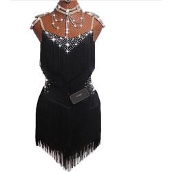 519fc958b08 Γυναικείο φόρεμα Latin χορού με κρόσσια L44 7744