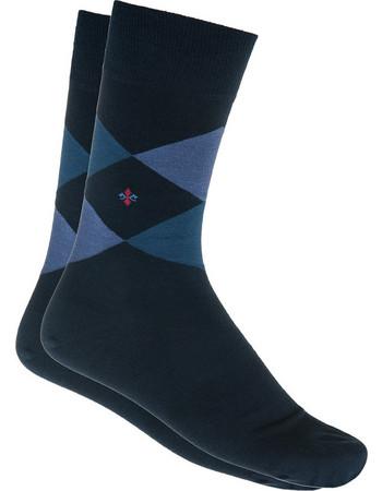 Ανδρική κάλτσα βαμβακερή σε μπλε χρώμα με σχέδιο καρώ efdd42fcefe