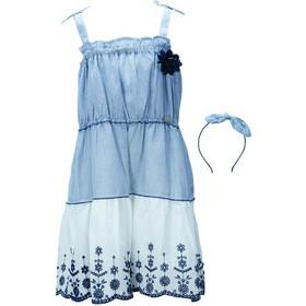445f77f92f6 Παιδικό Φόρεμα Εβίτα 198278 Ριγέ Κορίτσι