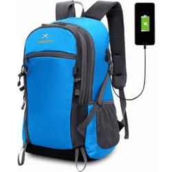 6352ccf54fe Xuanyufan XYF0029 Outdoor Hiking Lightweight Travel Backpack 35l with USB  Port τσάντας πλάτης αδιάβροχη μπλε
