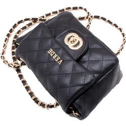 76a497b6241 Γυναικεία τσάντα VERDE 16-0004986 ΜΑΥΡΟ