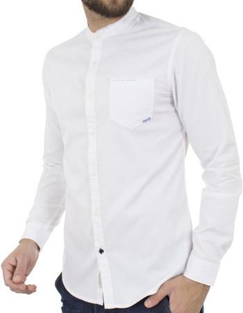 fbae3ed9d54d Ανδρικό Μάο Μακρυμάνικο Πουκάμισο Slim Fit Best Choice S185130-5 Λευκό