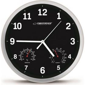 Ρολόι Τοίχου Esperanza Χρώματος Μαύρο EHC016K 004c1f80b16