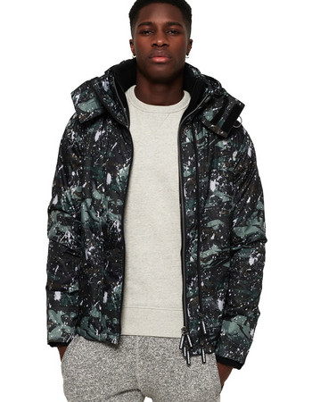 SuperDry Pop Zip Print Hooded Arctic SD- Windcheater Jacket M50005ZQ-TC9 951e150ff68