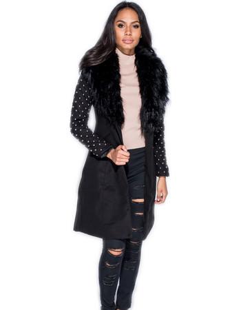 Παλτό με μανίκια με τρουκς 1efd63512da