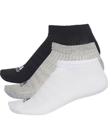 Adidas ανδρικό σετ κάλτσες προπόνησης (3 τεμαχίων) λευκό-μαύρο-γκρι - AA2281 8e44d992076