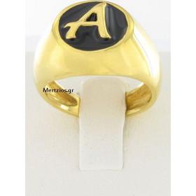 Δαχτυλίδι Μονόγραμμα Α Ασημένιο 925 7a3104fb53c