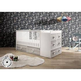 43e3464bfaa Πολυμορφικό κρεβάτι casababy Modular Naturale Grey + ΕΠΙΤΟΙΧΙΟ ΡΑΦΙ ΑΞΙΑΣ  59 casababy
