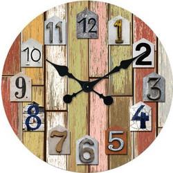 Ρολόι Τοίχου Ξύλινο Colours 60cm - OEM - 001.6564 592d1387d02