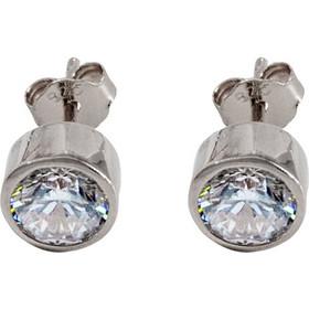 Σκουλαρίκια ασήμι 925 μονόπετρο με ζιργκόν c6bf88082a6