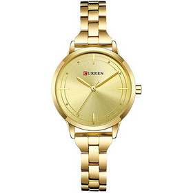Γυναικείο Ρολόι CURREN Women Watches Top Brand Luxury Gold Ladies Watch Stainless  Steel Band Classic Dress f956f07f9ce