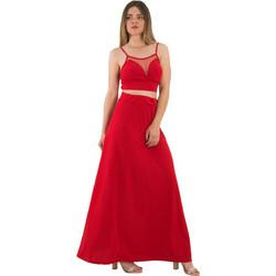 86cf50946b12 Γυναικείο κόκκινο σετ μάξι φούστα τοπ ραντάκι 261611L