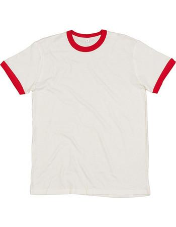 59271b3cdb78 Ανδρικό Βαμβακερό Μπλουζάκι Superstar Retro Ringer Washed White Warm Red  m175