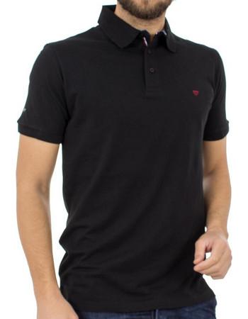 Ανδρικό Κοντομάνικο Μπλούζακι με Γιακά Polo DOUBLE Polo Jersey PS-216S Μαύρο 6e894c67097