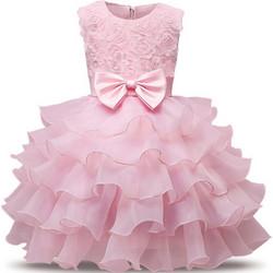 d00d18483ae Παιδικό Φορεματάκι Γενεθλίων Ροζ - Meng Baby