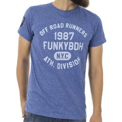 3081a0e6e0c7 Ανδρικό Κοντομάνικη Μπλούζα T-Shirt FUNKY BUDDHA FBM022-04118 Μπλε ρουά