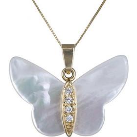 Γυναικείο κολιέ με πεταλούδα Κ14 002382 002382 Χρυσός 14 Καράτια 914501ef504