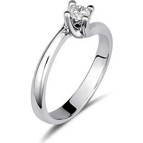Μονόπετρο δαχτυλίδι φλόγα από λευκό χρυσό 18 καρατίων με διαμάντι brilliant  0.24ct. KR22 57ca8933436