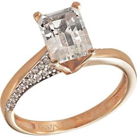 Δαχτυλίδι μονόπετρο ροζ χρυσό 14 καράτια με ορυκτό λευκό ζαφείρι swarovski (R) 3cdf42d33f8