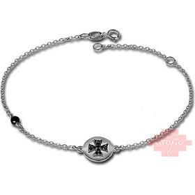 βραχιολι με σταυρο λευκοχρυσο - Βραχιόλια  7f699d81152