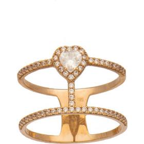 Δαχτυλίδι ρόζ χρυσό 14 καράτια καρδούλα με ζιργκόν 6ba9144ba23