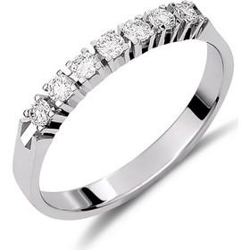 Δαχτυλίδι σειρέ από λευκό χρυσό 18 καρατίων με επτά διαμάντια 0 ca3c2cd116a