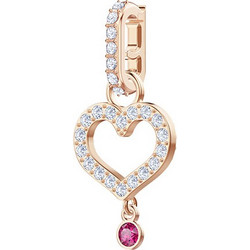 76ab1e89c4f SWAROVSKI Remix Collection Charm Heart, White, Rose gold plating 5441398