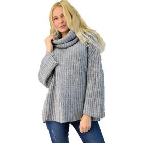 d0219c46f866 Γυναικεία πλεκτή μπλούζα ζιβάγκο oversized