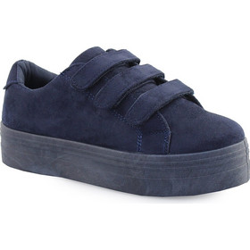 42224f6d65b Γυναικεία sneakers με τριπλό αυτοκόλλητο Μπλε