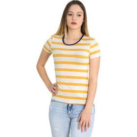 8dd4cef6687a Γυναικείο κίτρινο ριγέ Tshirt ελαστικό Lipsy 1190030L