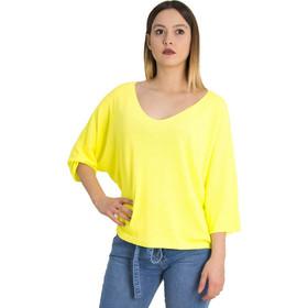 4442553268ec Γυναικεία κίτρινο neon μακρυμάνικη μπλούζα λεπτή πλέξη 5013V
