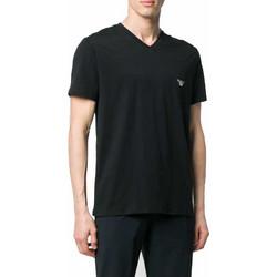 a3ce69b18e7a T-shirt V neck Pima Cotton Emporio Armani EA7 1115569P710 - μαύρο