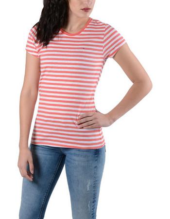 Tommy Hilfiger Linen Blend Stripe Μοντέρνο T-shirt DW0DW04282-903 7b1481fbfbc