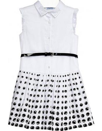 Mayoral 28-06948-015 Φόρεμα με ζωνη 6948 Λευκό Mayoral 1f1483600b1