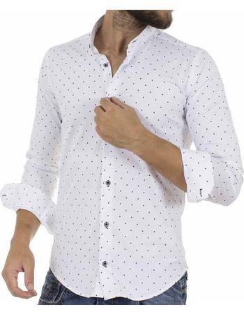 Ανδρικό Πουά Μάο Μακρυμάνικο Πουκάμισο Slim Fit ENDESON CLUB 6010-100 Λευκό 60c1acaf1f6
