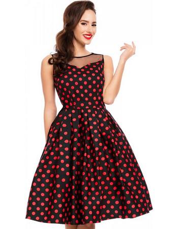 30f0a6978ad2 50s vintage pin up πουά φόρεμα Eliz