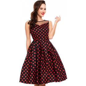74475926458c 50s vintage pin up πουά φόρεμα Eliz
